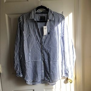 Abercrombie Striped Button Down Long Sleeve